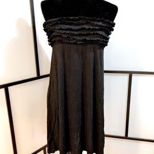 Ruffled Swim Cover-Up Dress w tie up Back